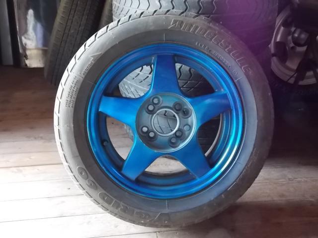 タイヤ&ホイールセット フリーサイズ対応穴 タイヤ&ホイール5本セット